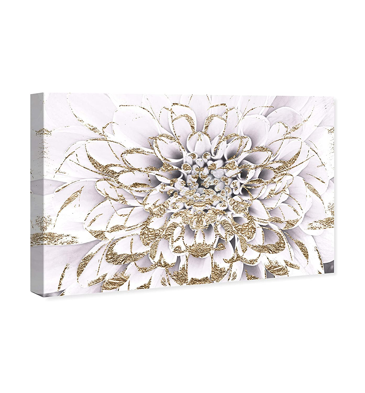 The Oliver Gal Artist Co. Floral and Botanical Wall Art Canvas Prints Floralia Blanc Home D cor, 60 x 40 , Gold, White