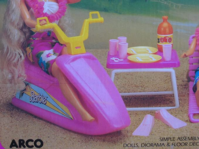 Amazon.com: Isla Fun Barbie Surf Set 25 Piece Playset (1987 ...