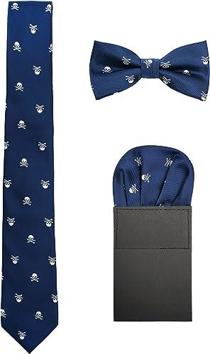 Hombre 6cm Corbata & Pajaritas & Pañuelo de Bolsillo 3 en 1 Set ...