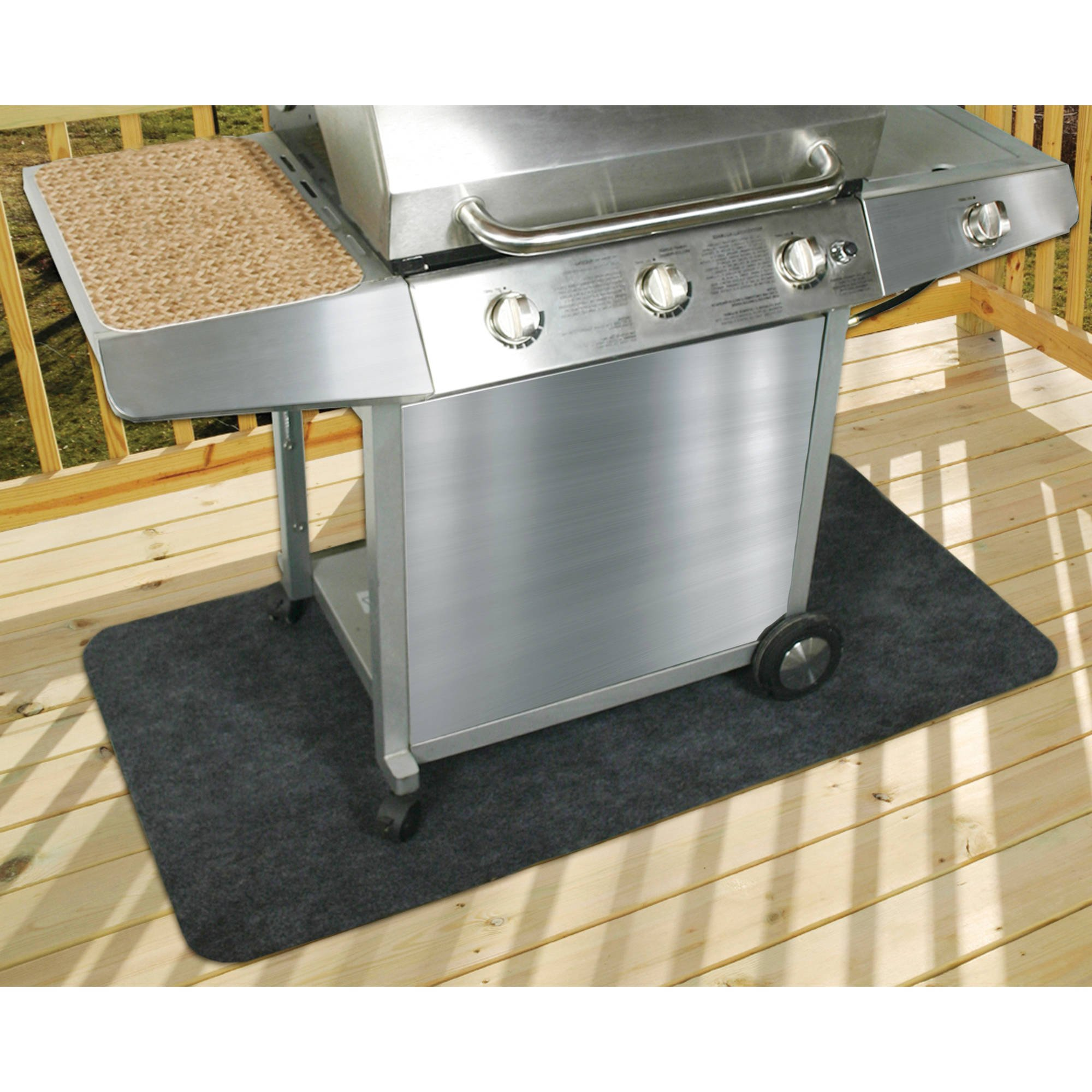 Patio Gas Grill Mat Protects cement, wood and synthetic decking from food and grease stains, prevent damage to decks,PVC-free material and Waterproof by Generic