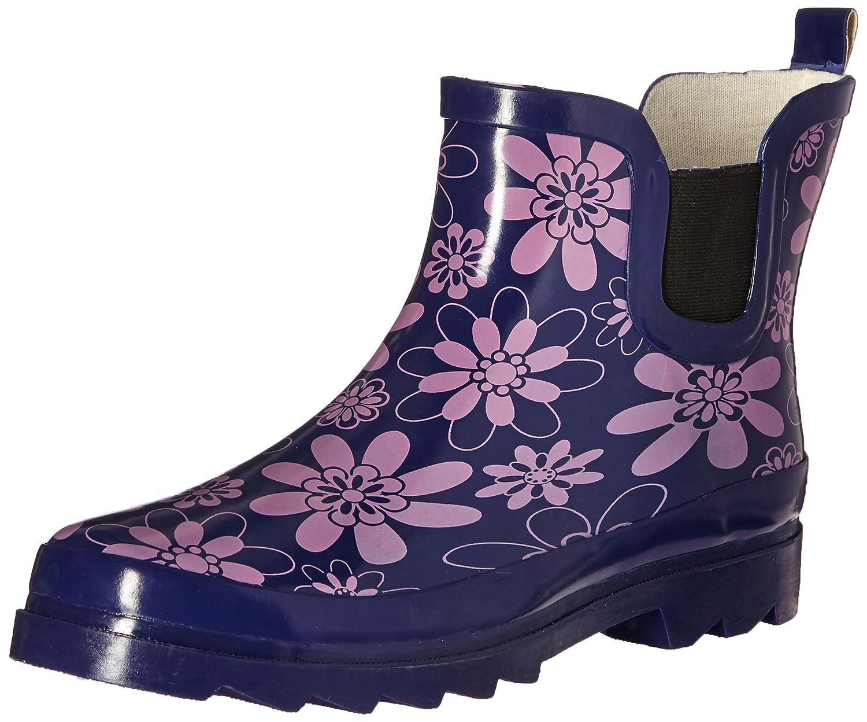 Women's Short Ankle Rubber Rain Boots Multiple Styles Available B00ZSNUI4M 7 B(M) US Purple Floral
