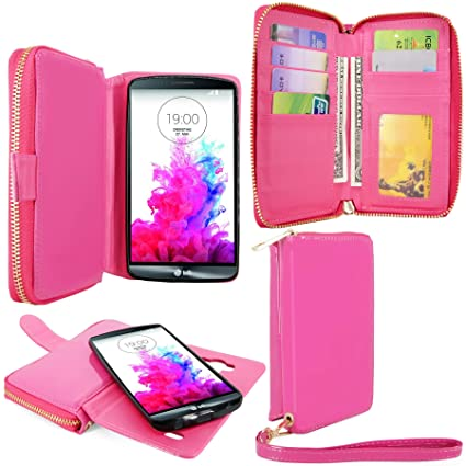 free shipping 4ca56 84351 For LG G3 Case - Cellularvilla PU Leather Wallet Flip Bag Pouch With Credit  Card Slots and Money Slot and Other Stuff Case Cover For LG G3 D830 / D850  ...
