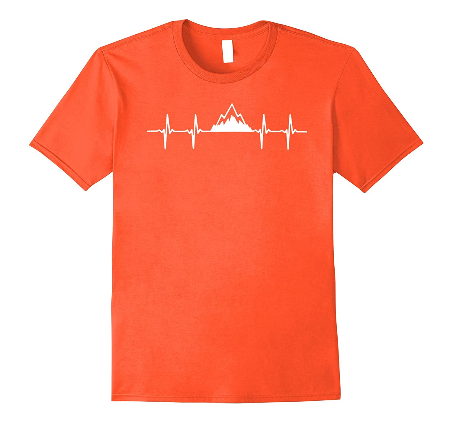 Hiking Heartbeat Mountain T-Shirt-Vaci
