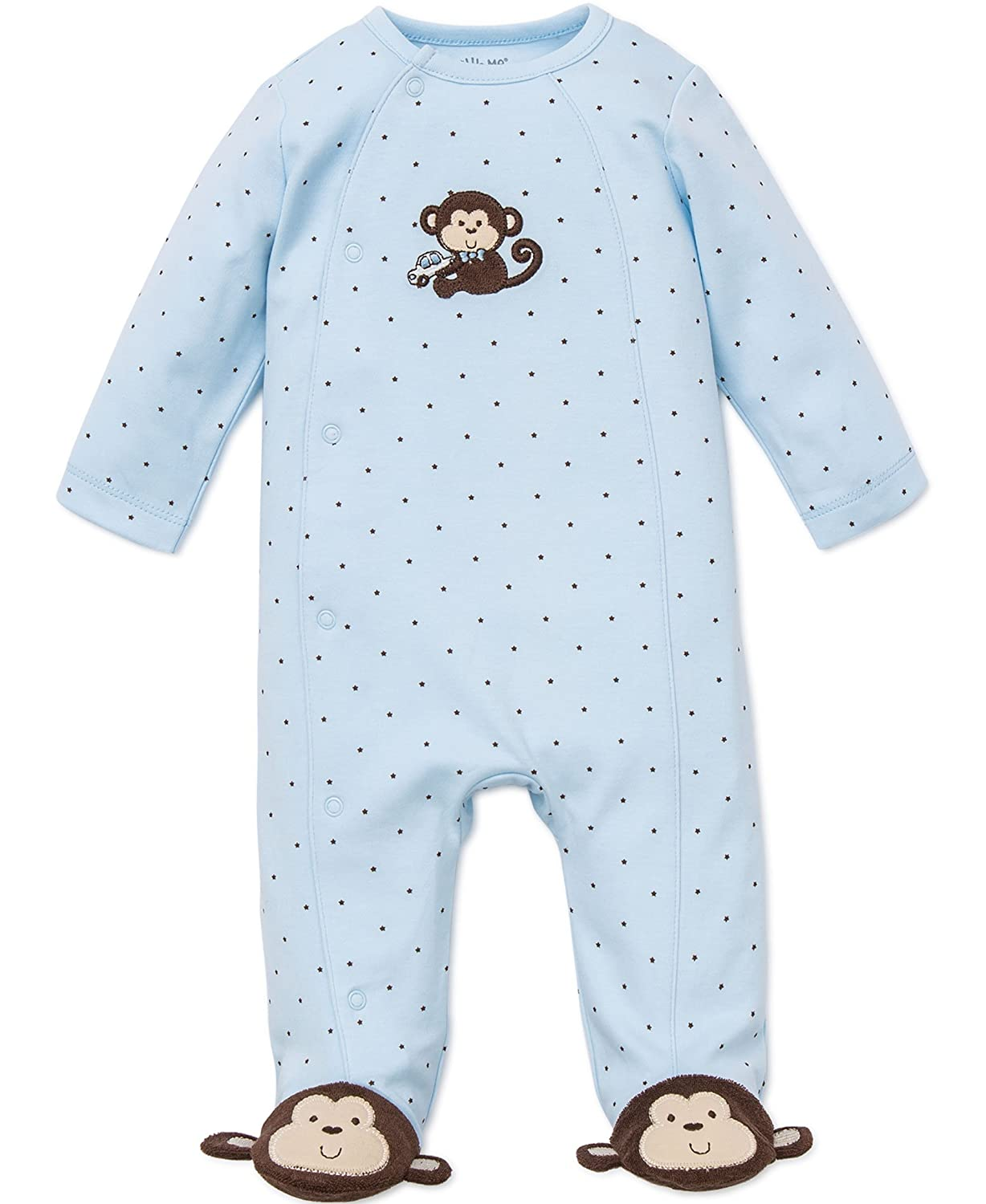 Little Me Baby-Boys Baby-Girls Baby Boys Footie Patterned Opaque Footie