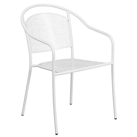 Amazon.com: Muebles Silla De Comedor De Patio de acero con ...