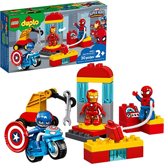 LEGO DUPLO Super Heroes Lab Construction Toy and Educational Playset