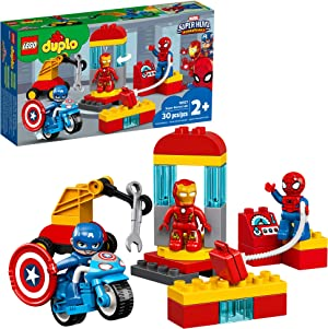 LEGO DUPLO Super Heroes Lab 10921 Marvel Avengers Superheroes Construction Toy and Educational Playset for Toddlers, New 2020 (30 Pieces)