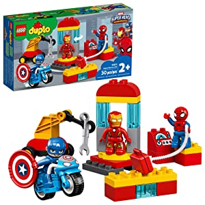 LEGO DUPLO Super Heroes Lab 10921 Marvel Avengers Superheroes Construction Toy and Educational Playset for Toddlers, New 2020 (29 Pieces)