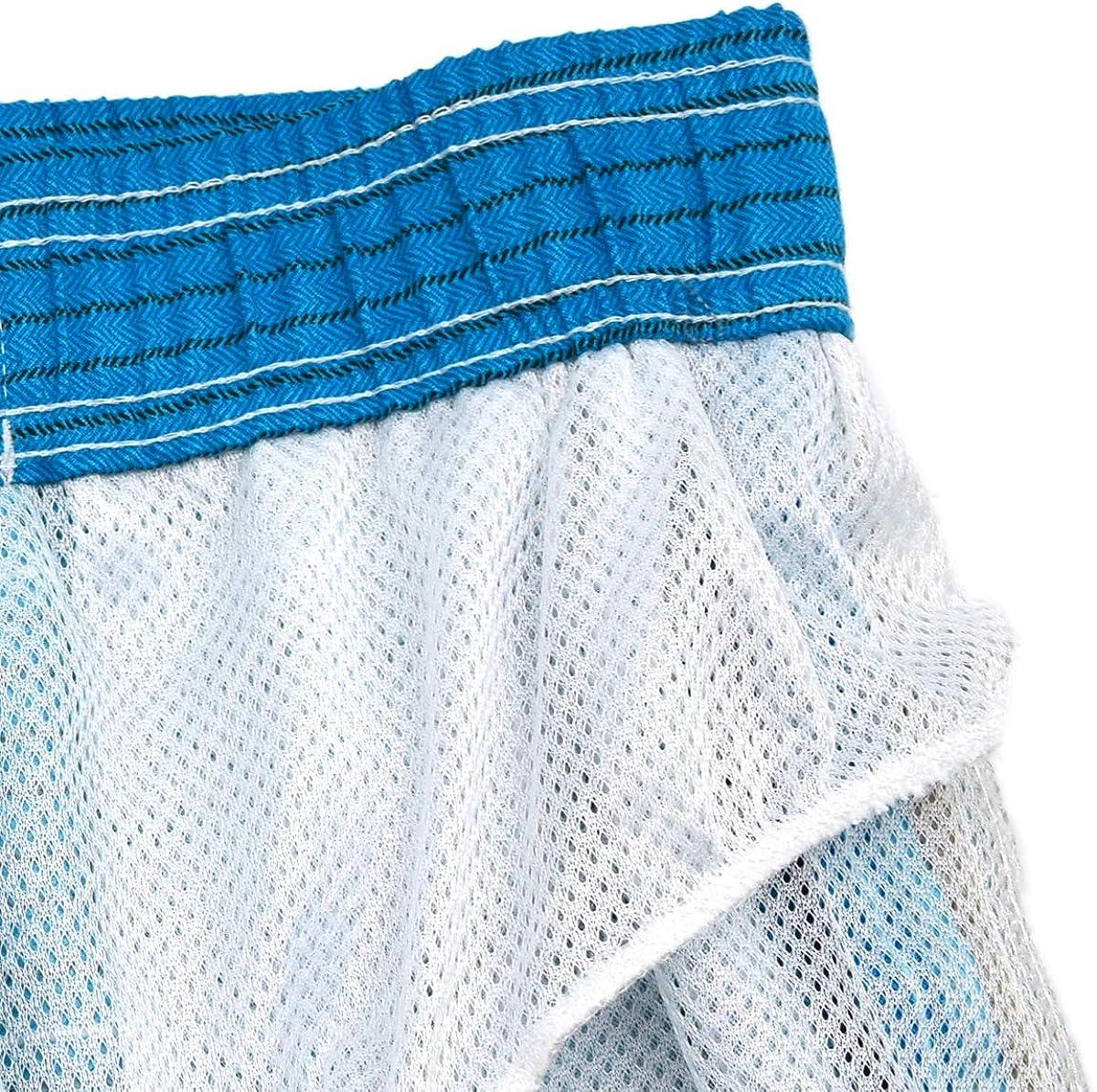 Mens Quick Dry Swim Trunks Beach Shorts with Mesh Lining