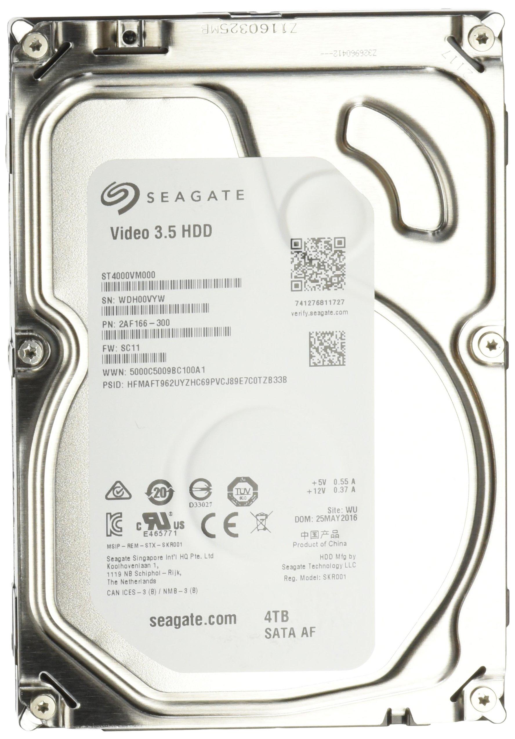 SEAGATE Video 3.5-Inch 4 TB 5900 RPM 64 MB Cache Internal Drive ST4000VM000