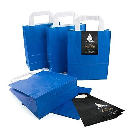 50 De Kleine Royal Azul Papel de bolsa bolsa de regalo con ...