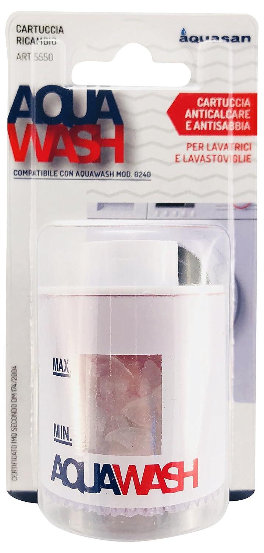 Aquasan 5550 Cartuccia di Ricambio per Filtro Anticalcare Aquawash Bianco
