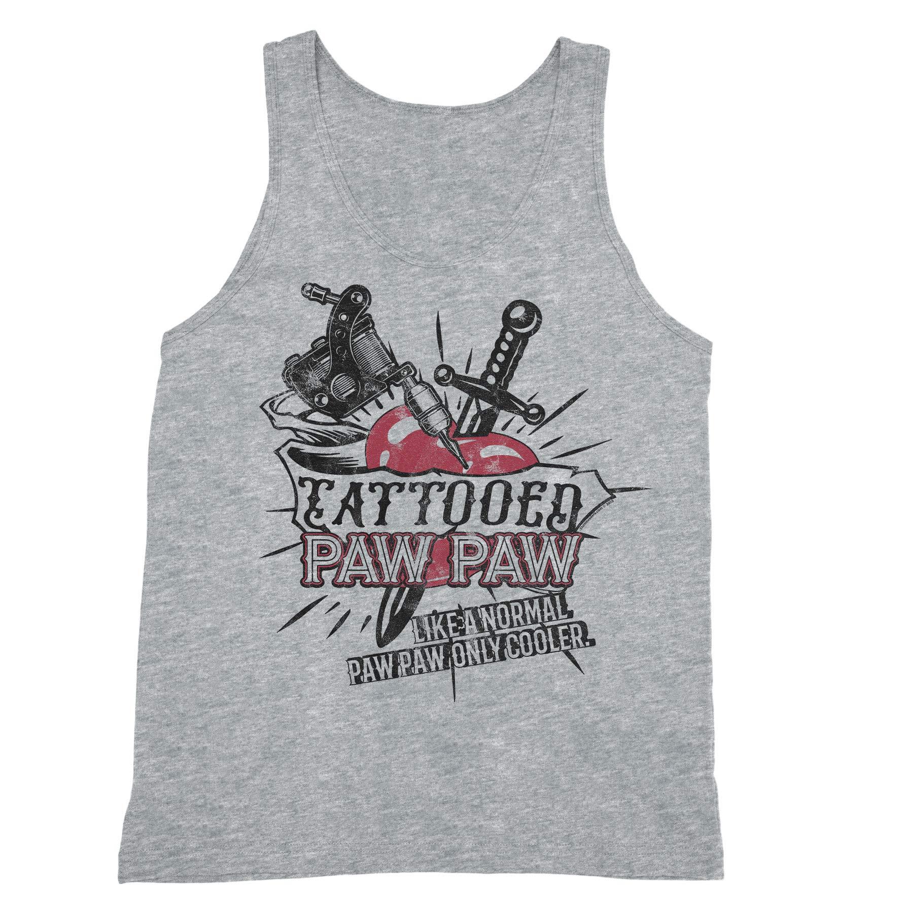 World S Greatest Tattooed Paw Paw Fathers Day S Tank Top 6681 Shirts