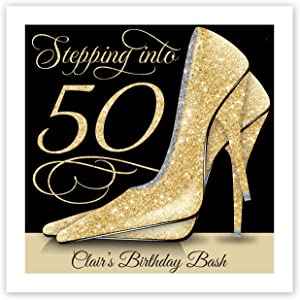 Stepping into 50 Personalized Beverage Cocktail Napkins - 100 Custom Printed Paper Napkins