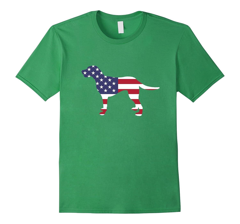 4th Of July Patriotic Dog Labrador Retriever Lab American Flag Celebration Party T-Shirt-Art