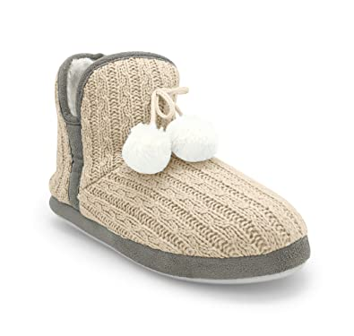 Amazon Junies Womens Plush Fur Lined Slip On Cable Knit
