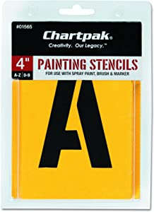 Chartpak Letter and Number Painting Stencils, A-Z and 0-9, 4 Inches H, 35 per Pack (01565)