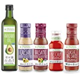 Primal Kitchen Whole 30 Dressing & Sauce Essential Kits, Includes: Avocado Oil, Caesar Dressing, Balsamic Dressing, Unsweeten