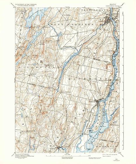Amazon.com : YellowMaps Gardiner ME topo map, 1:62500 Scale, 15 X 15 on