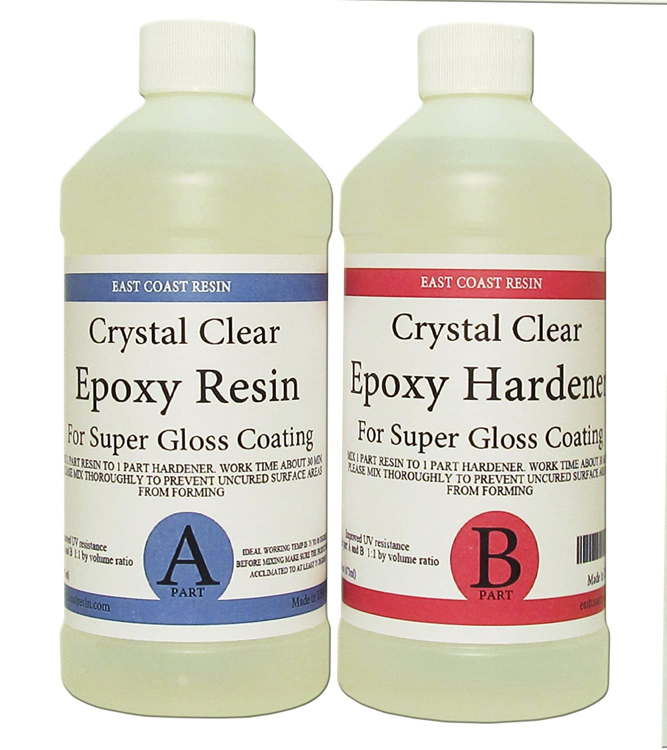 epoxy resin crystal clear 32 oz kit for super gloss coating and