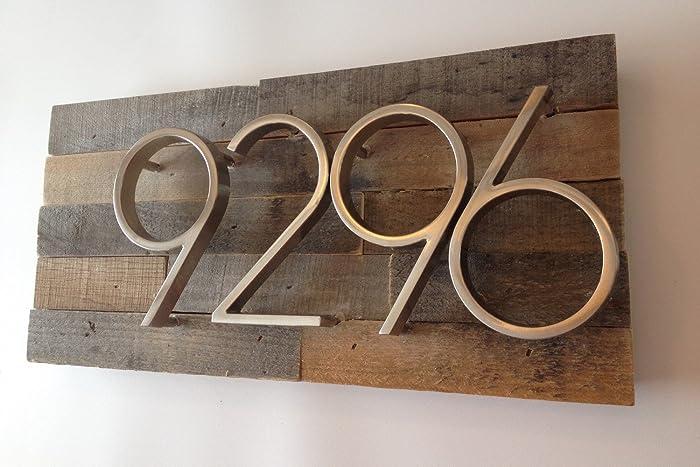 amazon com reclaimed wood address plaque rustic reclaimed wood