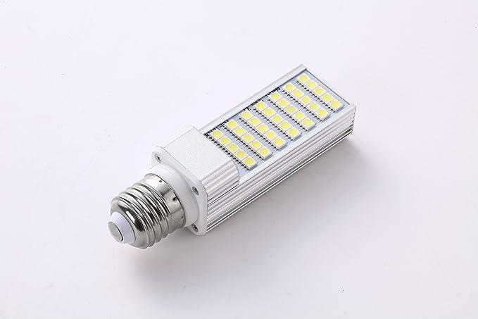 Jinda E24 5050 7w LED Horizontal Plug Light 3500k Warm White Corn