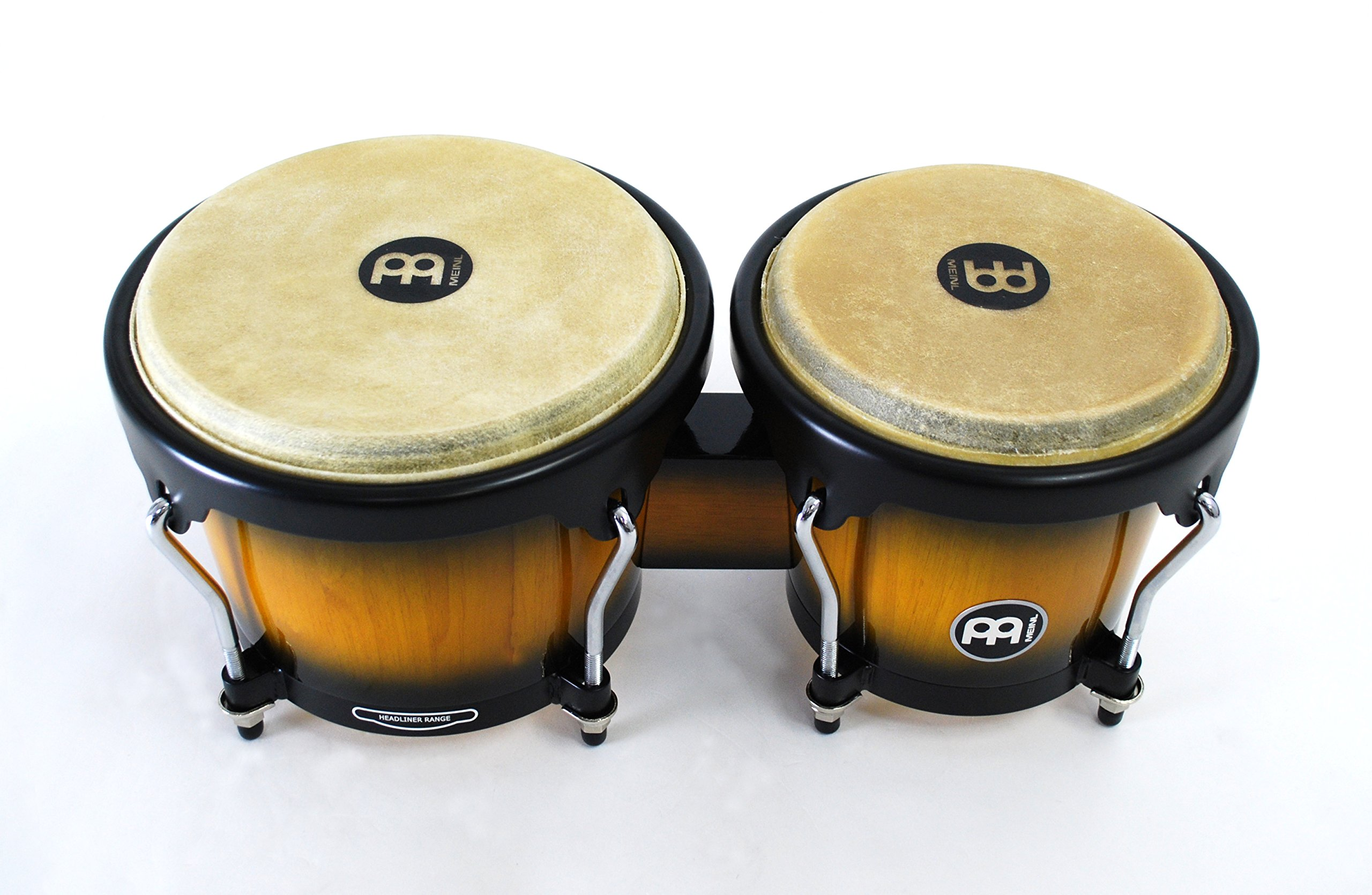 Meinl Percussion Bongos With Hardwood Shells - NOT MADE IN CHINA - Vintage Sun burst Finish, Buffalo Skin Heads, 2-YEAR WARRANTY HB100VSB by Meinl Percussion (Image #3)