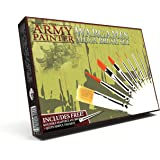 The Army Painter Wargames Mega Brush Set - 10 Miniature Paint Brushes Including Free Masterclass Kolinsky Sable Hair…