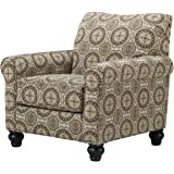 Ashley Breville Fabric Accent Chair in Burlap