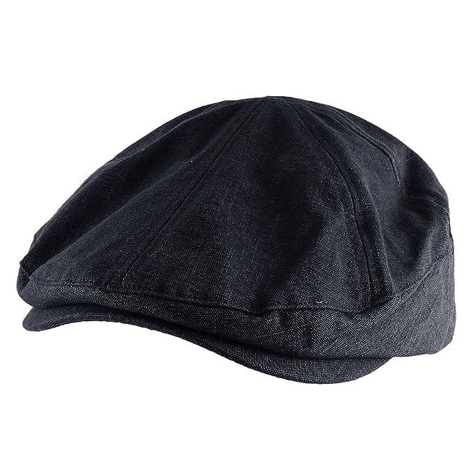 Morehats 100% Cotton Canvas Newsboy Cap Gatsby Golf Hat - Navy at ... c4d2693a804