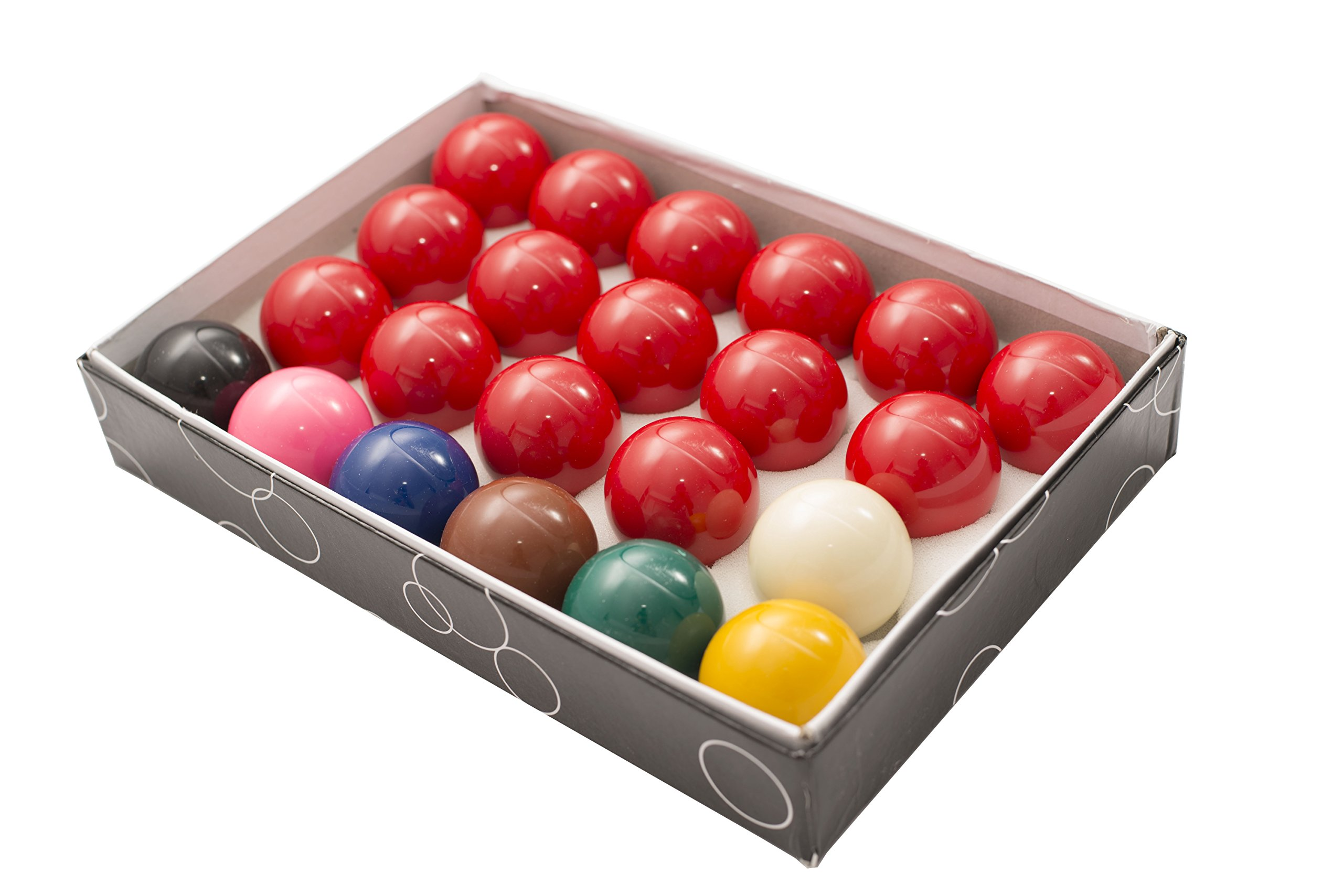 2 1/16'' Snooker Table 22 Ball Set Precision Engineered Standard English Snooker Size by Transcend United
