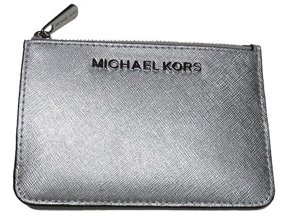 e686b14b421a ... australia michael kors jet set item small top zip leather key coin  pouch w. id