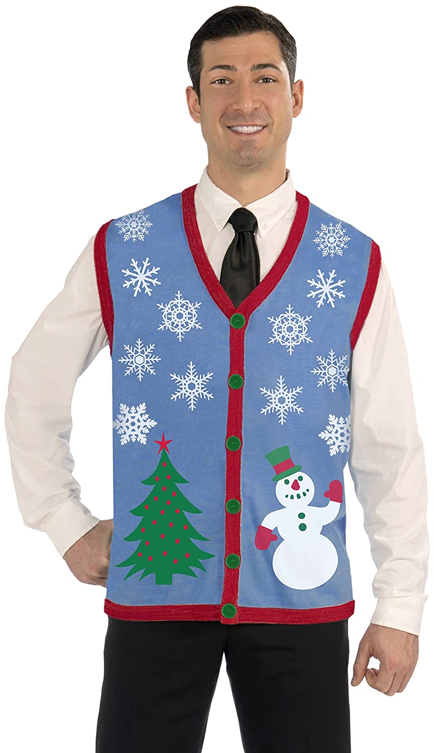 Amazon.com: Forum Novelties Men's Plus Size Snowflake Christmas ...