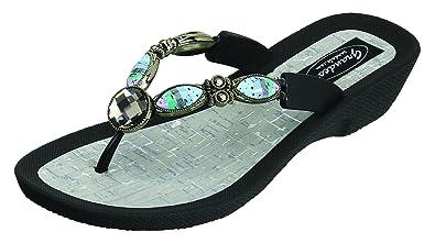 f0167c817 Grandco Women s Bahama Blue Thong Sandal (6 M US