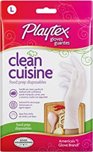 Playtex Disposables CleanCuisine Gloves - Large: 30 Count