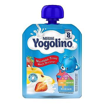 NESTLÉ YOGOLINO Bolsitas, con Manzana y Fresa, para bebés a partir de 8 meses: Amazon.es: Amazon Pantry