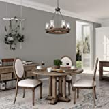 LNC Wood Farmhouse Chandeliers for Dining Rooms