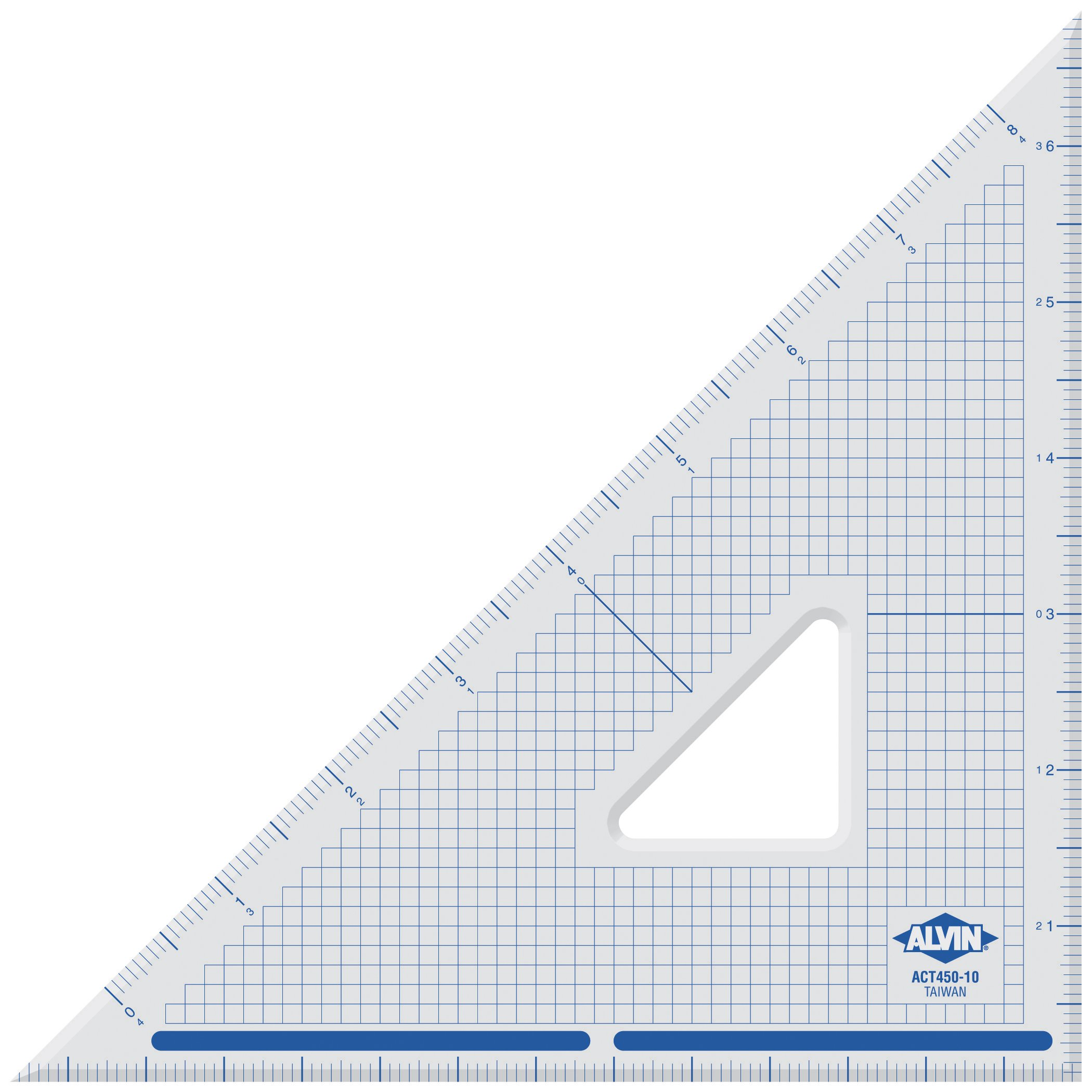 Alvin 10 inches Cutting Edge Triangle 45/90 ACT450-10 by Alvin