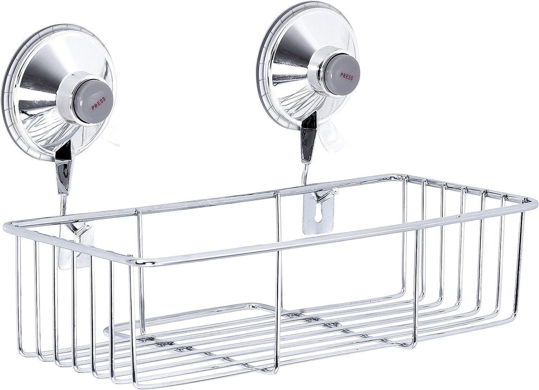 Ridder Cesta para cosm/éticos Comfort con Ventosa 250 x 152 x 147 mm. Plata Metal Cromado Aprox