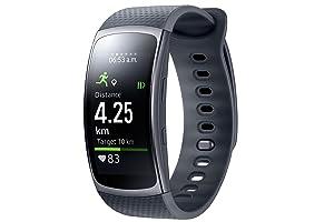 Samsung Gear Fit II Smartwatch met hartslagmeting en notificaties, blauw (S), Large, zwart