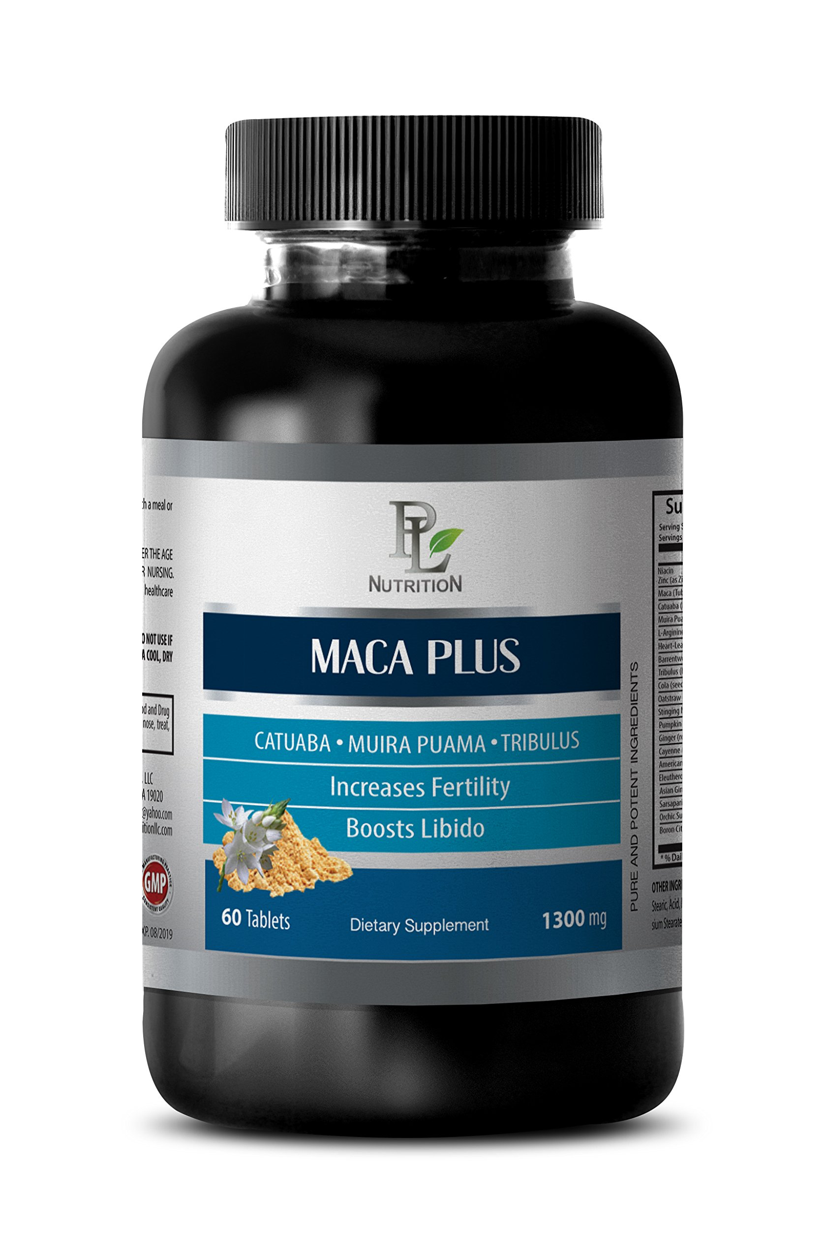 Libido boost - MACA PLUS - Maca powder - 1 Bottle 60 Tablets by PL NUTRITION