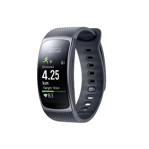 Samsung Gear Fit 2 Smartwatch mit Pulssensor und Benachrichtigungen - Schwarz(L)