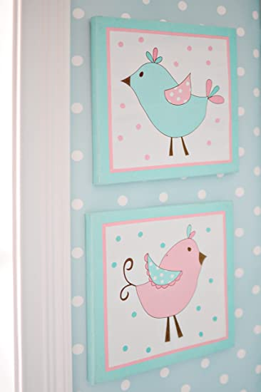 My Baby Sam 2 Piece Pixie Baby Wall Décor, Aqua