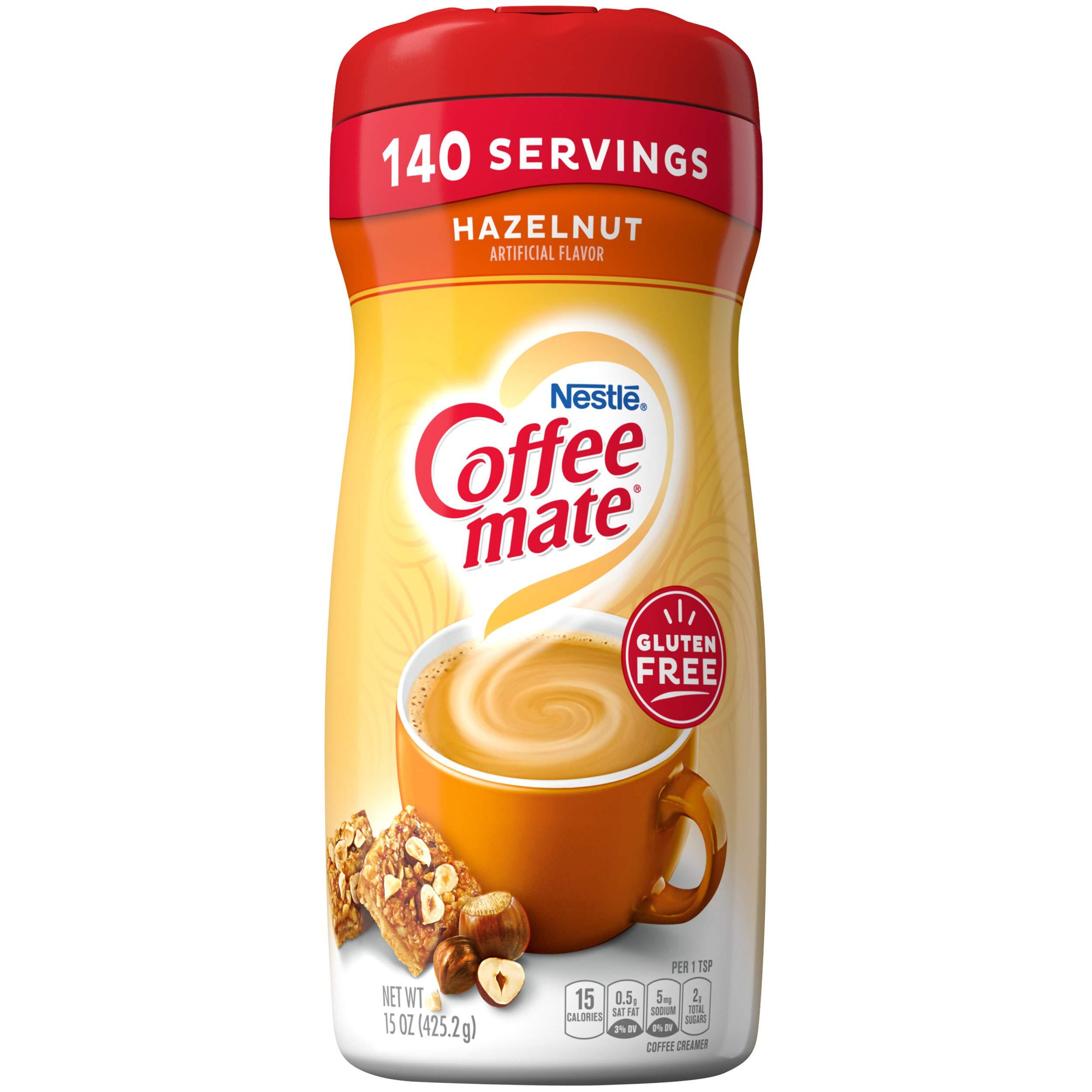 COFFEE MATE Hazelnut Powder Coffee Creamer 15 Oz. Canister   Non-dairy, Lactose Free, Gluten Free Creamer
