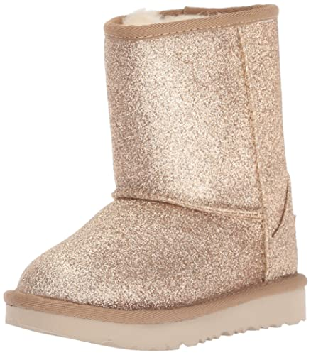 3d5c803e8c8e Amazon.com: UGG Girls' T Classic Short II Glitter Fashion Boot, Gold ...