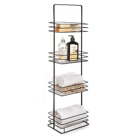 Amazon.com: Free Standing Bathroom Storage Caddy, Oil Rubbed Bronze ...