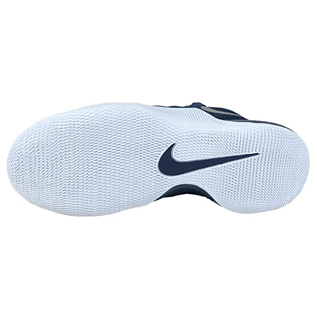 save off 3b7b7 f2cbf Nike Mens Hypershift Basketball Shoes Squadron Blue Metallic Silver (9)   Buy Online at Low Prices in India - Amazon.in