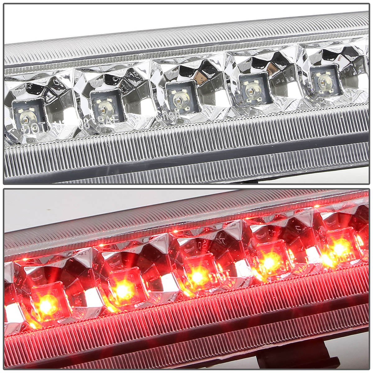 Black Housing Smoke Lens For Chevy Tahoe//Suburban//GMC Yukon GMT800 High Mount LED 3rd Brake Light