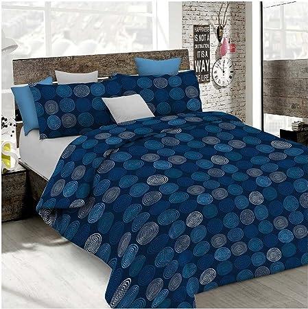 Copripiumino Matrimoniale Blu.Copripiumino Matrimoniale Blu Grigio Azzurro Ipnotic Made In Italy