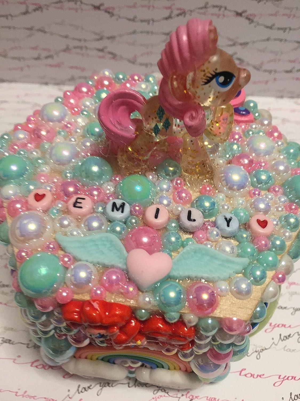 Beautiful, personalised Pony/Unicorn themed children's jewellery/trinket box personalised Pony/Unicorn themed children' s jewellery/trinket box